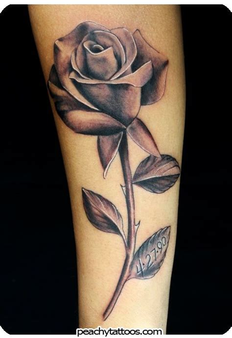 black and grey shaded rose tattoos 69cc1866914e0e8a4728fa4f04849869 peachy tattoos peachy