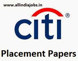 Citi Mba Hiring by Citi Placement Papers Pdf 2017 2018 Aptitude