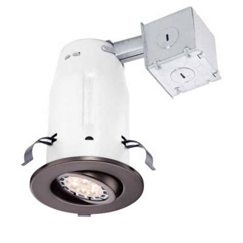 Commercial Electric Recessed Lighting by Commercial Electric 3 In Bronze Recessed Non Ic Gimbal