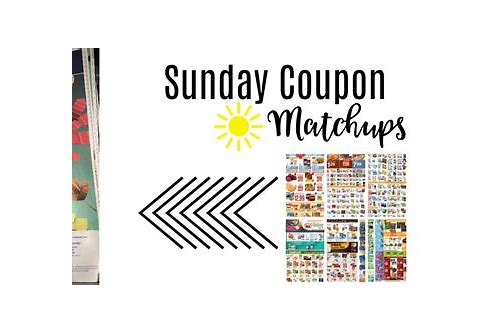 match sunday coupons to store sales
