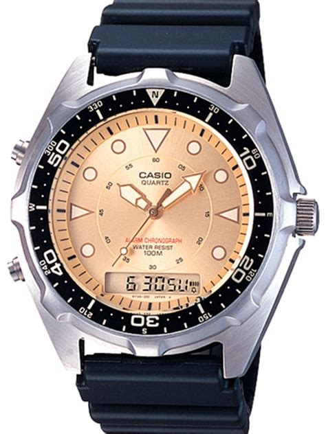 Casio Analog Digital Dual Time Watch with Alarm and
