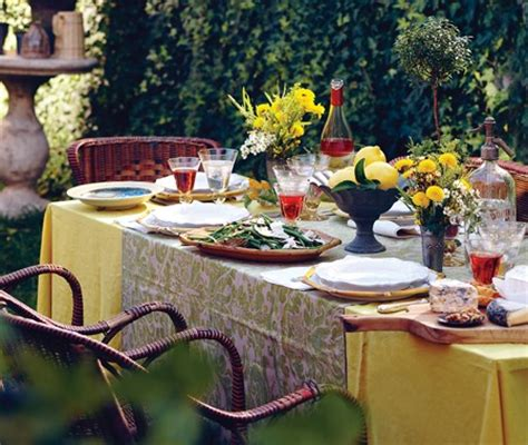 Patio Table Decor Outdoor Table Decorating Ideas Being Tazim