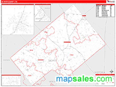 dewitt county texas map dewitt county tx zip code wall map line style by marketmaps