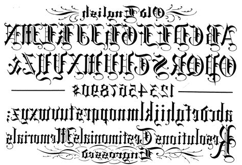 tattoo creator font old english old english letters alphabet tattoos docoments ojazlink
