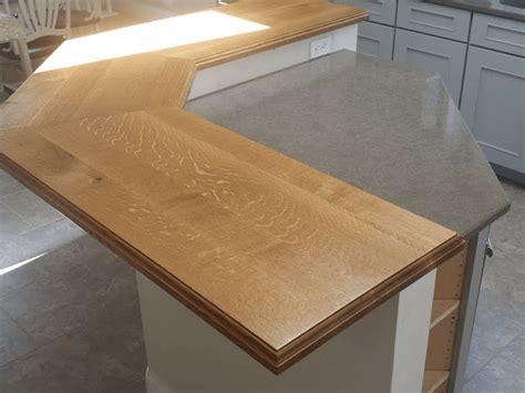 white oak breakfast bar maryland wood countertops