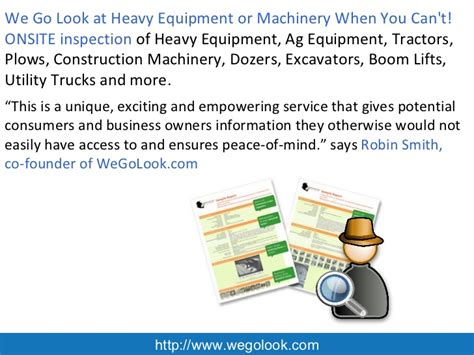 powerpoint phlet template heavy equipment inspection procedure the best equipment