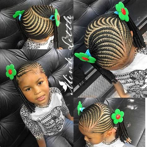 355 Best African Princess Little Black Girl Natural Hair | photos braiding styles 2017 for little girls black hairstle picture