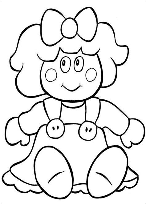 coloring page baby doll sandra fazendo arte riscos para pintura em tecido