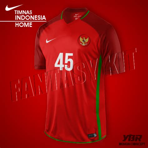 Jersey Indonesia Home 2018 designfootball category football kits image