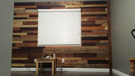 office remodel before and after used pallet wood for an