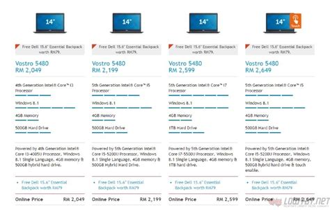 Laptop Dell Inspiron Malaysia dell inspiron latitude and vostro laptops with 5th intel processors are now in