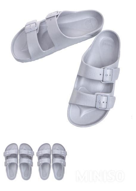sandal miniso s fashionable slippers silver 41 42 miniso australia