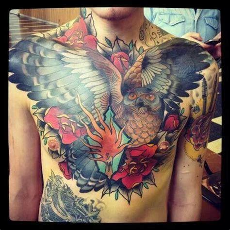 owl tattoo piece chest piece owl awesome tattoos pinterest