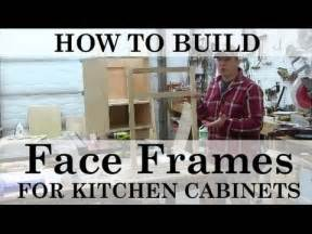 Kitchen Cabinet Width by How To Build And Attach Kitchen Cabinet Face Frames Youtube