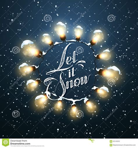 let it snow christmas lights vector holiday illustration