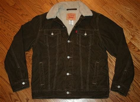 Jaket Cat Freeport levi strauss levi s brown corduroy sherpa fleece jacket
