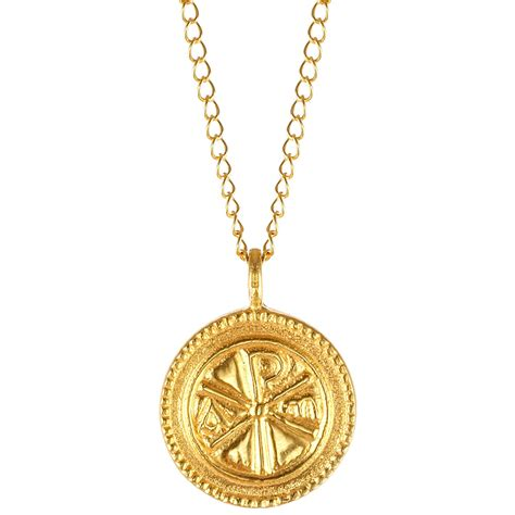 jewelry pendants christogram gold pendant the met store