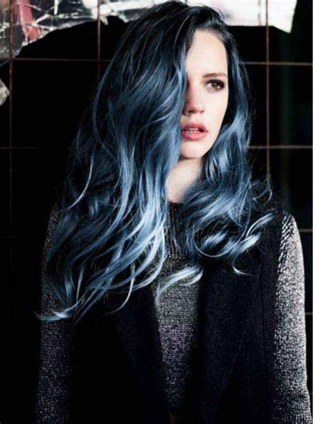 hair color black or midnight blue with subtle highlights or ombre brown blonde platinum grey midnight blue hair tumblr google search hair color