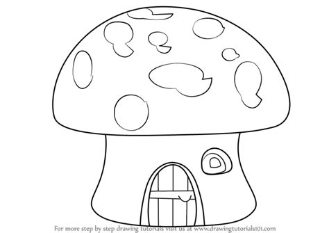 how to draw houses learn how to draw a mushroom house houses step by step drawing tutorials