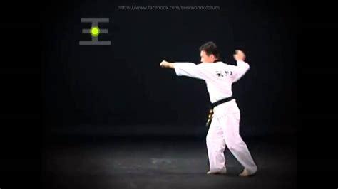 youtube taekwondo pattern 3 8 pal jang poomsea taegeuk technical english speak