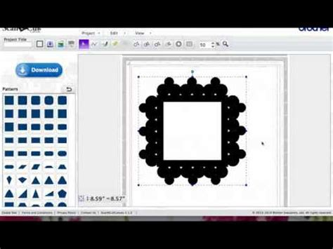 tutorial video cutter scan n cut tutorial for borders mats shaped cards youtube