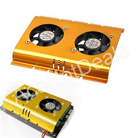 Sale Cooler Pendingin Hdd 3 5 Pc Komputer Dual Fan 3 5 quot inch dual cooling fan disk driver hdd cooling