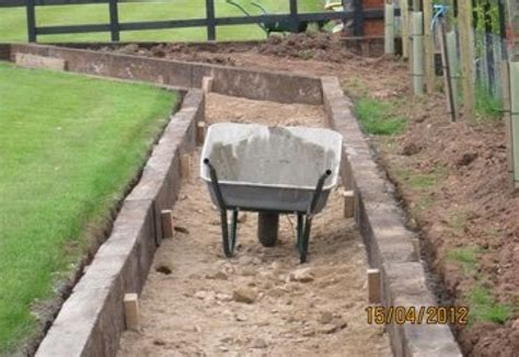 Using Railway Sleepers As Garden Edging by Paths Edging With Used Railway Sleepers