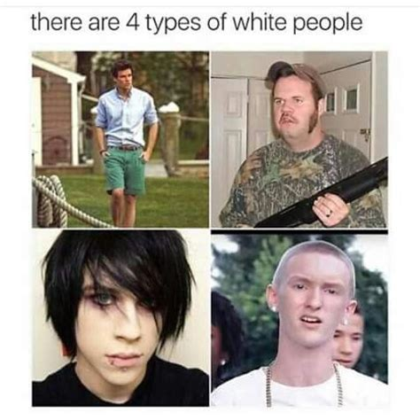 types of black people quot there are 4 types of white people quot meme humor funny