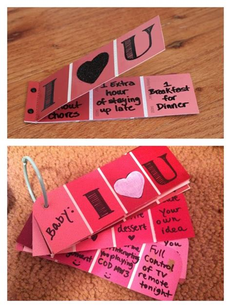 boyfriends valentines gifts handmade valentines day coupons for my boyfriend is