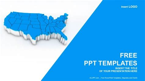powerpoint us map template map of usa recreation powerpoint templates