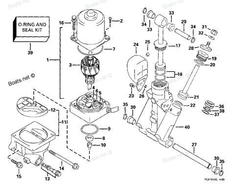 1999 e70pl4eec evinrude power trim tilt hydraulic diagram