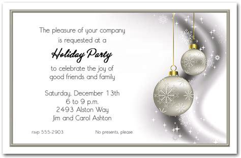 rhinestone silver ornaments holiday invitations christmas