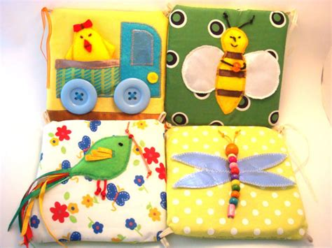 Handmade Infant Toys - baby soft developing pictures mini modules handmade baby