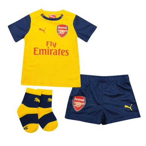 arsenal yellow kit puma arsenal away kit 2014 2015 baby infants yellow blue