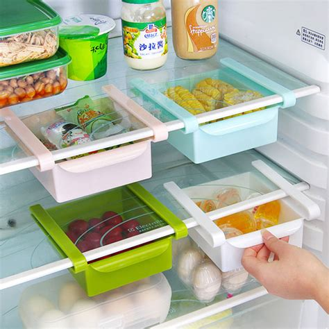 plastic kitchen pull out drawers 4 pcs lot plastic kitchen refrigerator storage rack fridge
