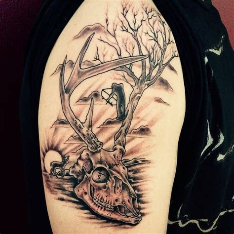 deer skull tattoos designs deer skull design creativefan