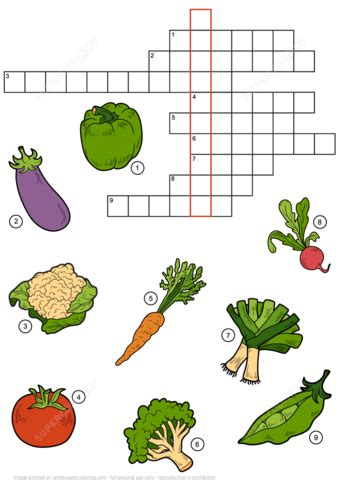 printable crossword puzzles vegetables free printable crossword puzzles fot teens