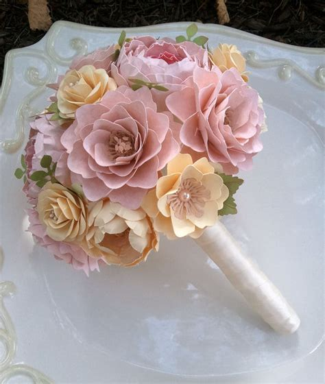 How To Make Paper Flower Bouquets For Weddings - paper flower bouquet paper flowers wedding bouquet