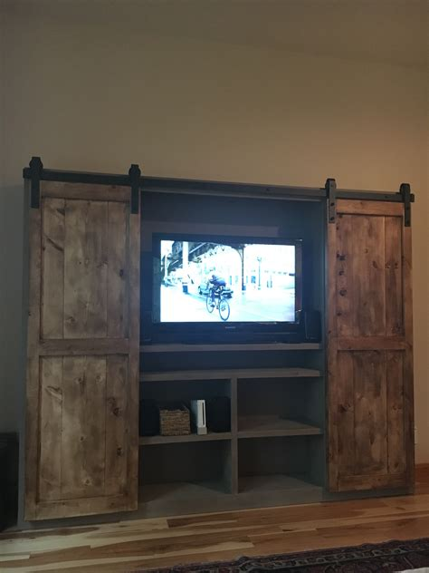 white barn door entertainment center white barn door entertainment center diy projects