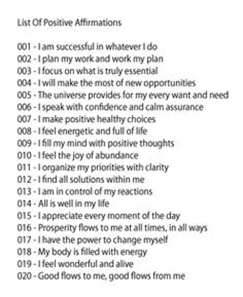 printable list of quotes affirmations on pinterest daily affirmations morning