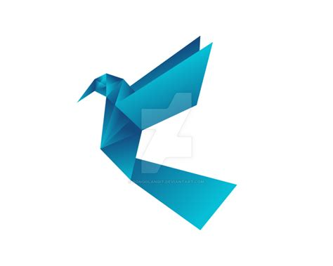 Origami Bird Logo - birds origami logo by songolangit on deviantart