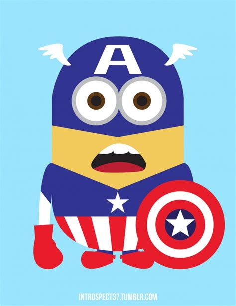 imagenes de minions vestidos del america capitan america beb 233 en caricatura imagui