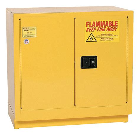 """EAGLE 22 gal. Flammable Cabinet, 35"""" x 35"""" x 22"""", Manual"""