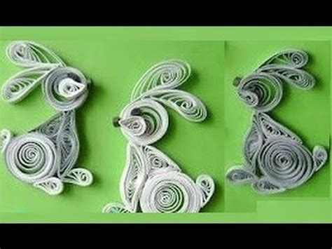 paper quilling tutorial youtube quilling made easy how to make quilling rabbit using