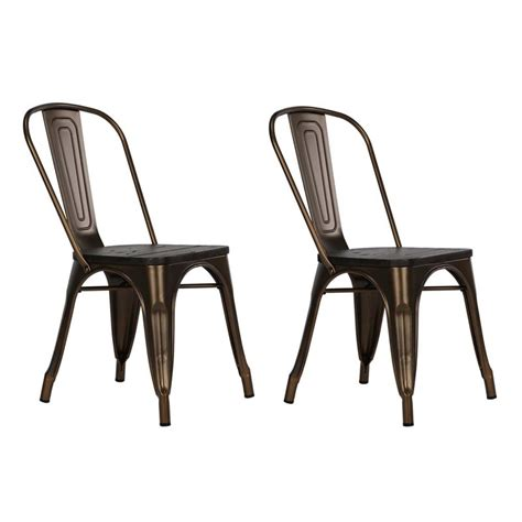 metal kitchen chairs with wood seats metal dining chair with wooden seat in bronze set of 2