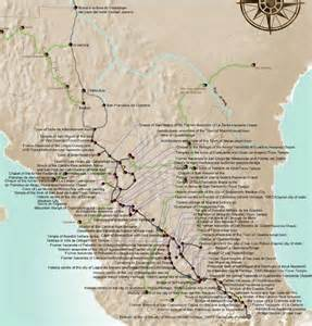 Camino Real Map El Camino Real Historic Located In Mexico