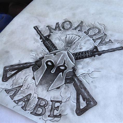 molon labe tattoo designs molon labe drawings molon labe