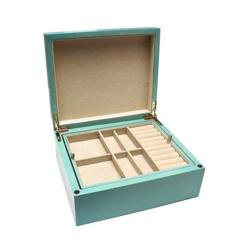 turquoise wood jewelry box desires by mikolay
