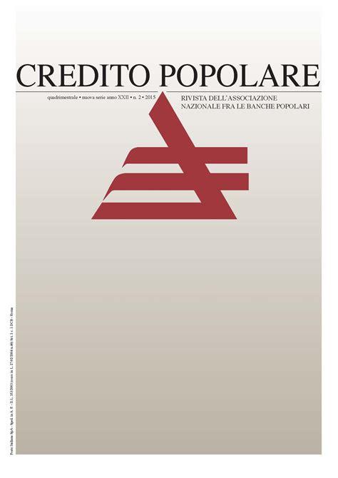 credito popolare rivista credito popolare 2015 associazione nazionale tra