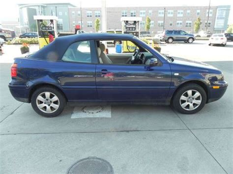 purchase used 2002 volkswagen cabrio glx convertible 2 door 2 0l blue exterior power loaded in